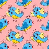 Seamless birds pattern royalty free illustration