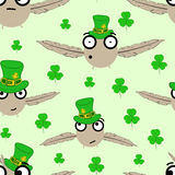 Seamless birds St. Patrick's Day Royalty Free Stock Images