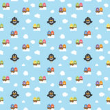 Seamless Birdy Pattern. Seamless Birdy In The Ske Pattern Background Stock Photography