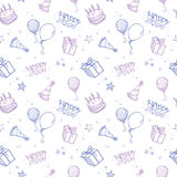 Seamless Birthday Background Royalty Free Stock Photos