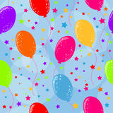 Seamless birthday background. With air balloons Stock Photography