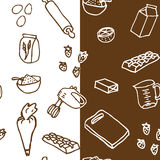 Seamless birthday cake ingredient pattern Royalty Free Stock Images