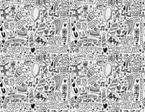 Seamless birthday element pattern Stock Photos