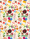 Seamless birthday pattern. Vector drawing Royalty Free Stock Image