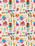 Seamless birthday pattern. Illustration Stock Images