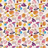 Seamless birthday pattern. Vector,illustration Royalty Free Stock Photos