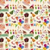 Seamless birthday pattern. Vector,illustration Stock Images