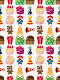 Seamless birthday pattern Royalty Free Stock Photography