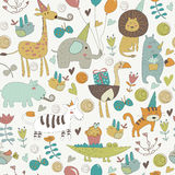 Seamless birthday pattern Stock Image