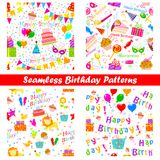 Seamless Birthday Pattern Royalty Free Stock Photos