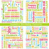 Seamless Birthday Pattern Stock Photos