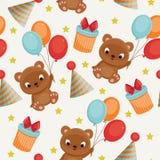 Seamless birthday pattern Stock Photos