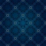 seamless blå blom- modell Royaltyfri Bild