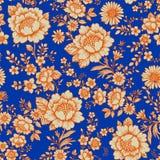 seamless blå modell Royaltyfri Foto