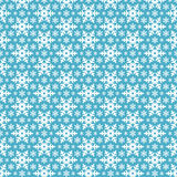 Seamless blått mönstrar med snowflakes. Royaltyfri Bild