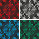Seamless black abstract pattern. Background in fou Stock Image