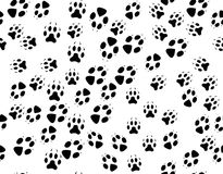 Seamless black background from animals tracks Royalty Free Stock Photo