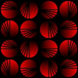 Seamless black background with red circle shapes, gradient effect Royalty Free Stock Photography