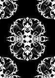 Seamless black baroque design Stock Photos