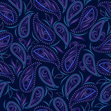 Seamless black and blue  ethnic pattern . Vector  background. Royalty Free Stock Photos