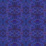 Seamless black and blue  ethnic pattern . Vector  background. Stock Photo