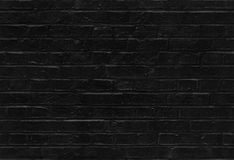 Seamless black brick wall pattern texture Royalty Free Stock Photography