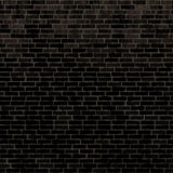 Seamless black brick wall Royalty Free Stock Photo