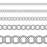 Seamless of black chain on white background stock illustration