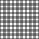 Seamless black colored checkered table cloth background. Vector illustration Royalty Free Stock Photography