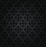 Seamless black floral damask wallpaper pattern Stock Photography