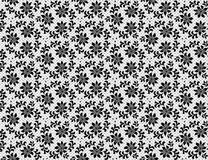 Floral lace pattern. Seamless black floral lace pattern on a white background Royalty Free Stock Photos