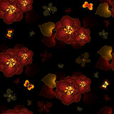 Seamless black floral pattern Royalty Free Stock Images
