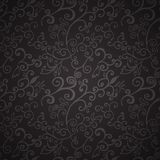 Seamless black floral pattern Stock Photography