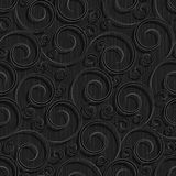 Seamless black floral wallpaper pattern Royalty Free Stock Photography