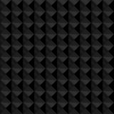 Seamless black geometric embossed pattern Royalty Free Stock Photos