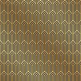 Seamless black and gold Art Deco pattern background. Art Deco background. Wallpaper stock illustration