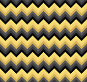 Seamless black and gold double palette blend chevron zigzag pattern vector Royalty Free Stock Photography