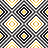 Seamless black and gold pattern. Vector Royalty Free Stock Images
