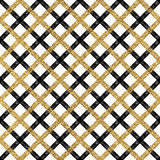 Seamless black and golden shiny checkered background Royalty Free Stock Photos