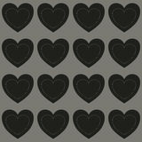 Seamless black hearts Royalty Free Stock Photos