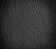 Seamless black leather texture Stock Image