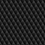 Seamless black leather texture. Vector leather background. Royalty Free Stock Image