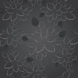 Seamless black leaves lace wallpaper pattern Royalty Free Stock Photos