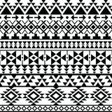 Seamless black Navajo print, Aztec pattern, Tribal design Stock Image
