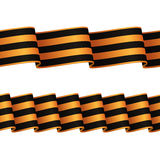 Seamless black-and-orange ribbons Stock Photo