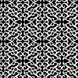 Seamless black ornament pattern Stock Images