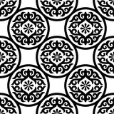 Seamless Of Black Ornament On White Stock Images