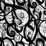 Seamless black pattern Royalty Free Stock Photo