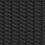 Seamless Black Pattern from Rectangle Intersections Stock Photo