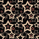 Seamless black pattern with stars Royalty Free Stock Photo